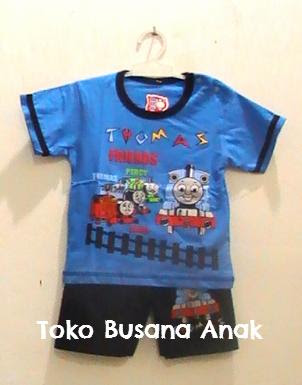 busana, kartun, thomas, and, friends