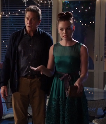 "Annabeth's Anthropologie Caridad Ruffled Dress Hart of Dixie Season 2, Episode 12: ""Islands In the Stream"""