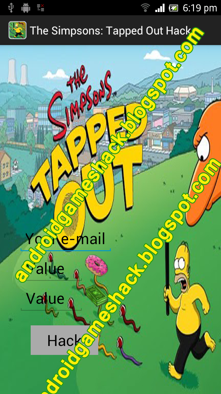 The Simpsons: Tapped Out Android Apk Hack Cash, Money, Donuts