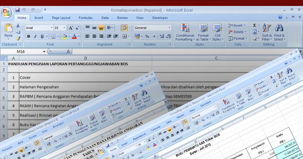 Contoh Laporan Pertanggun Jawaban Bos Format Microsoft Excel Download Terbaru Blog Edukasi