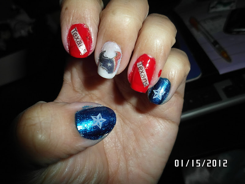 A Lil Bit Of This And That Houston Texans Manicure