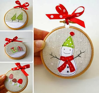 Christmas decorations with racks