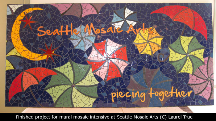 Melissa cole fun fine art mural mosaic workshop for Mural mosaic