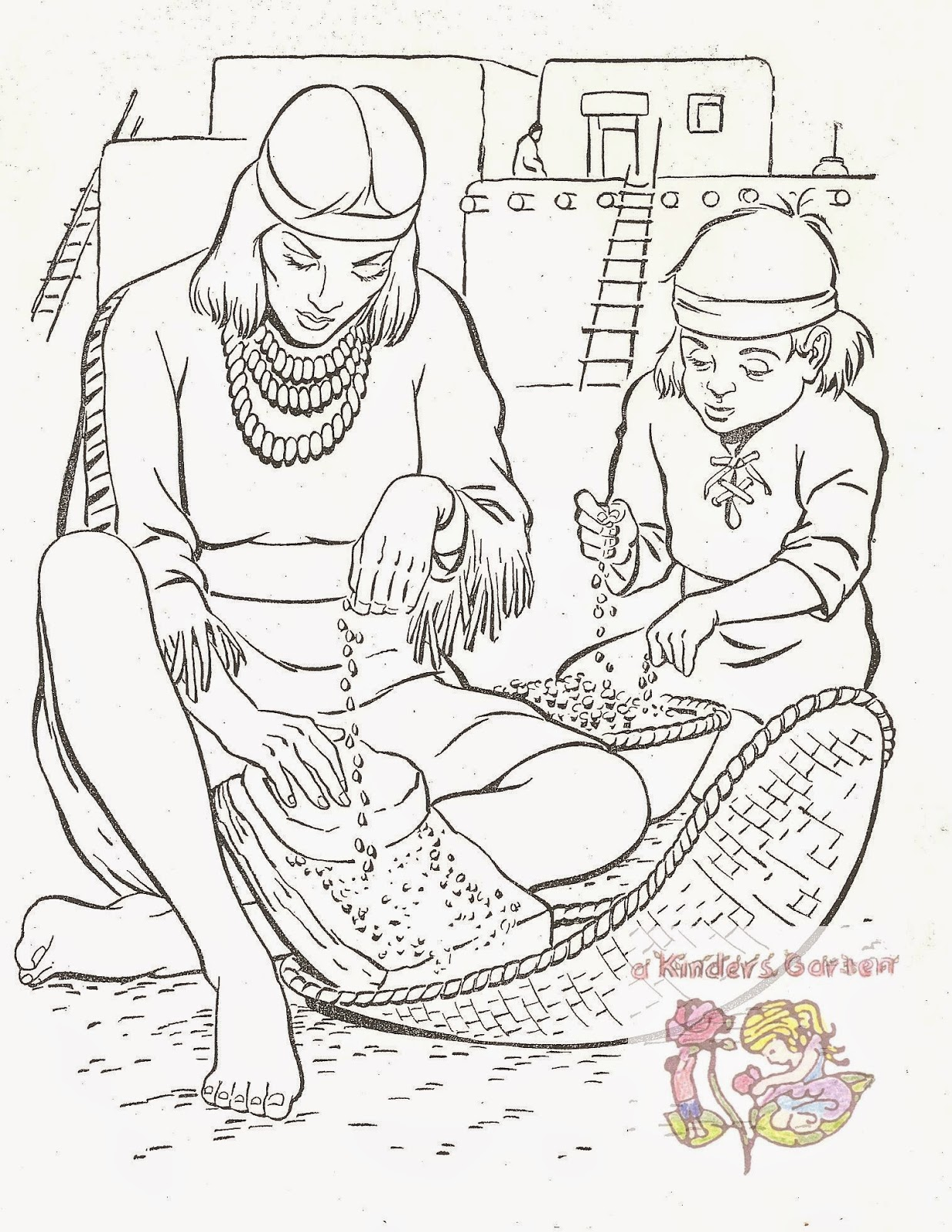 a kinders garten vintage homeschool american indian unit part 3b