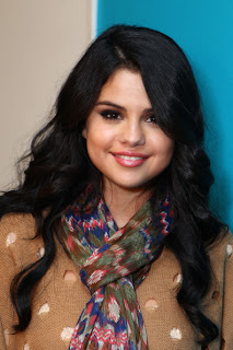 Selena Gomez Long Curly Hairstyle