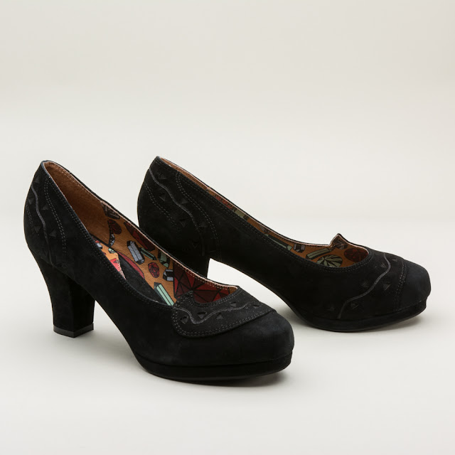 "Miss L Fire ""Lupita"" 1940s Platform Shoes - $155 - RoyalVintageShoes.com"