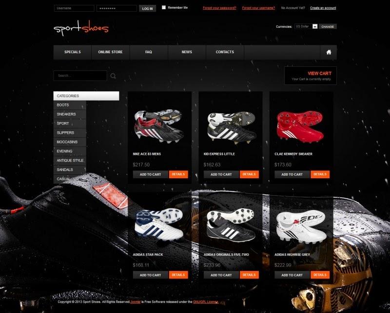 thiết kế website bán hàng giầy thể thao chuyên nghiệp