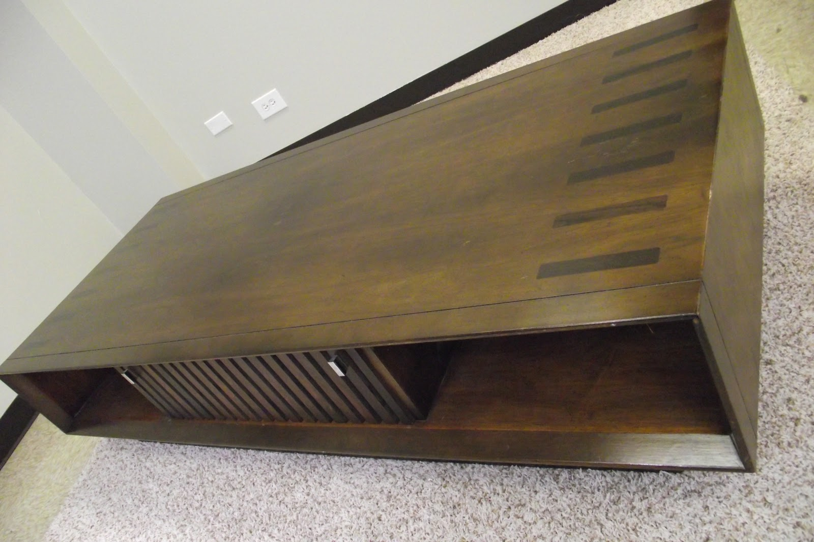 Walnut & Rosewood Lane Tv Console Bench Coffee Table - Sold