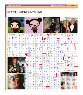 Solución del Dominigrama Familiar del domingo 12 de junio del 2011