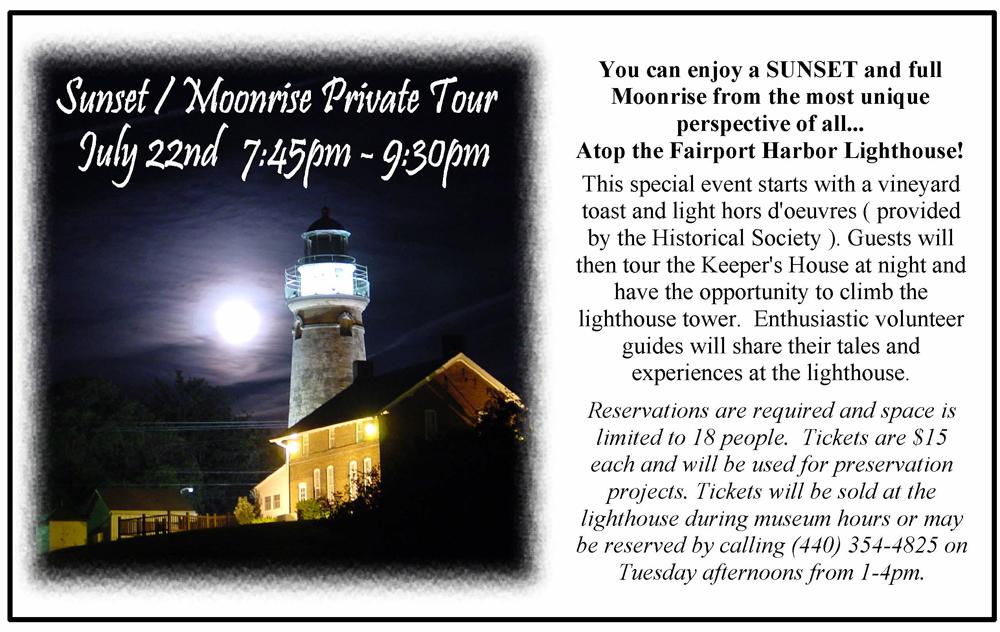 Lighthouse Moonrise Tour May
