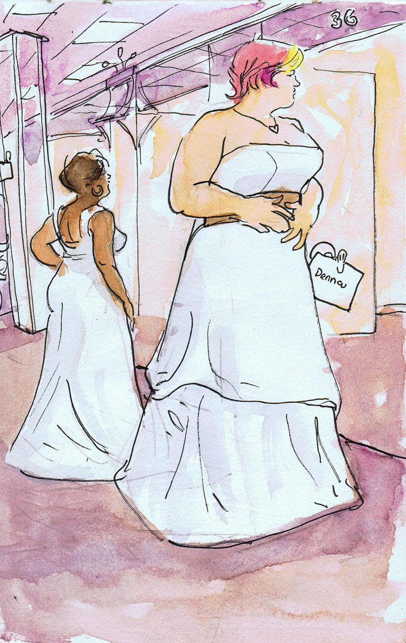 Analog Artist Digital World: Denna Beena\'s Wedding dress