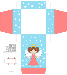 Printable angel box- available in other hair and skin colors and hair styles!