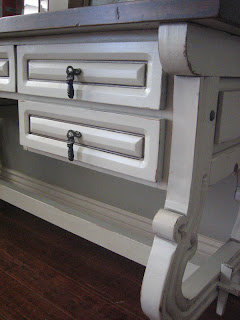 European Paint Finishes Vintage Trestle Desk