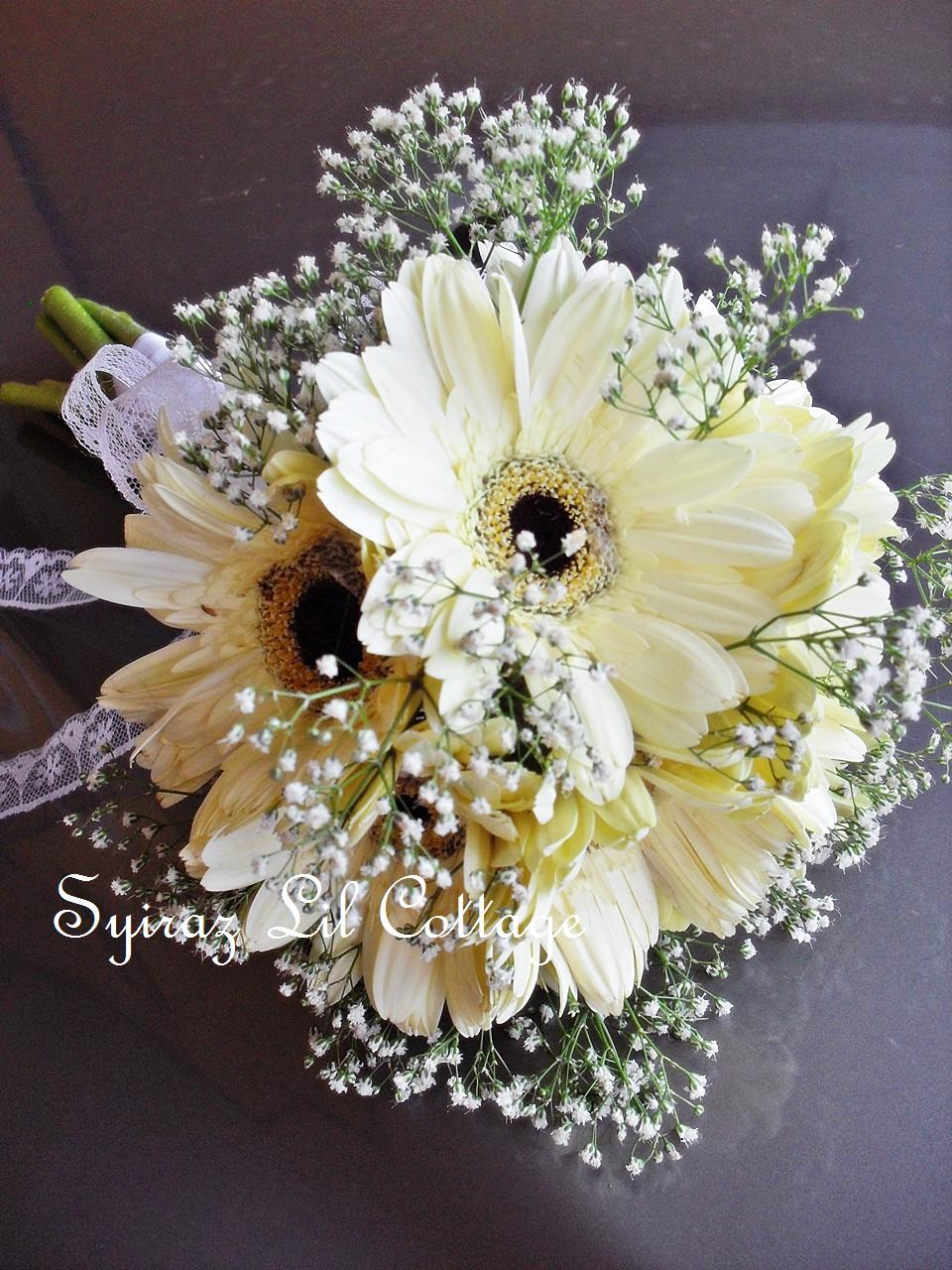 Bridal Bouquet Of Gerbera Daisies : Weddings at syiraz lil cottage another gerbera bridal