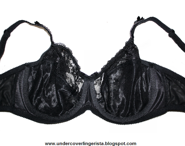 Famous Make Black Motif Embroidery Underwired Balcony Bra Sizes 32-38 DD-G.