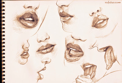 lip studies by Rafater
