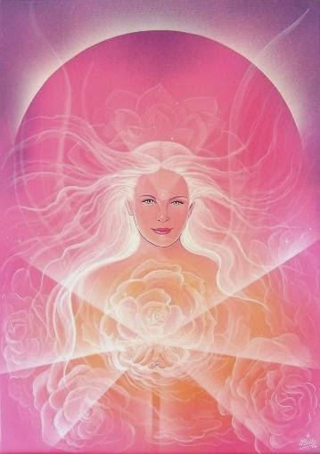 Anjo de luz das rosas