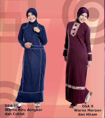 Model Baju Kaos Muslim Osmoes Biru Dongker Coklat dan Maroon Hitam