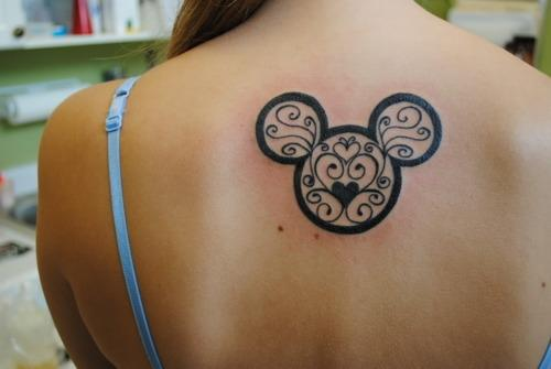 Tribal Mickey tattoos