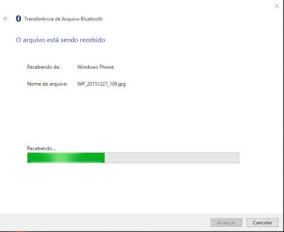 Como enviar arquivos via Bluetooth para o computador