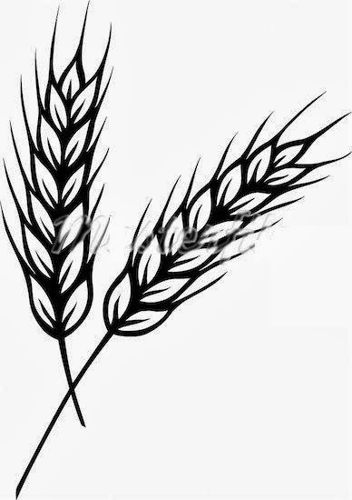Wheat Clip Art Black and White