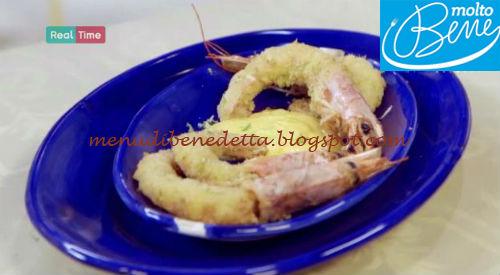 Gamberoni fritti in crosta di cocco ricetta Parodi per Molto Bene