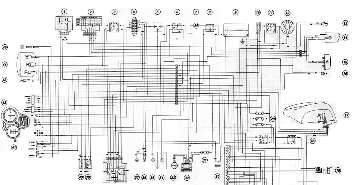 ducati st complete electrical wiring diagram