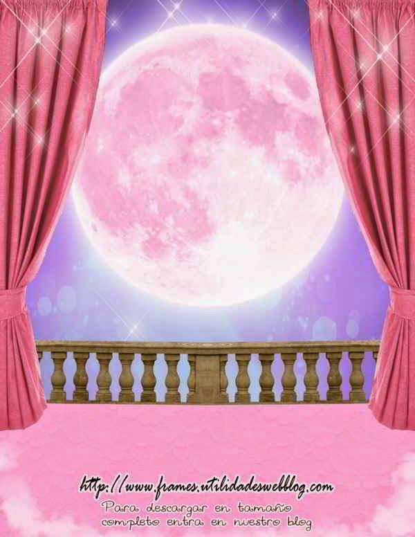 Fondos de ensueño para fotomontajes de 15 años con destellos, cortinas, balcon y luna llena