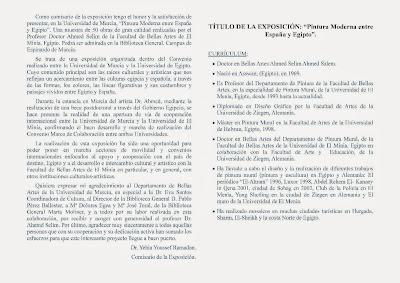 """Exposición: """"Pintura Moderna entre España y Egipto""""."""