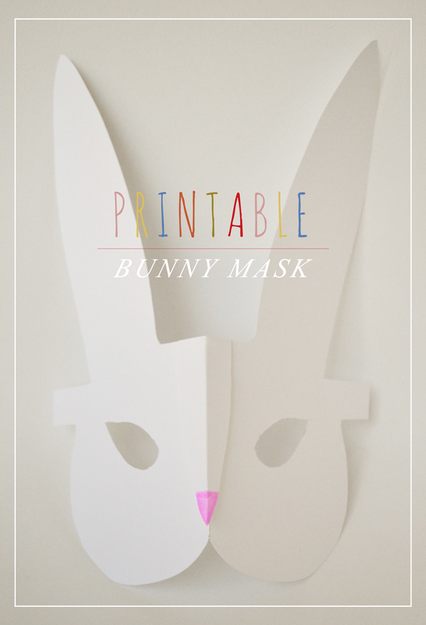 Versatile image for printable bunny mask