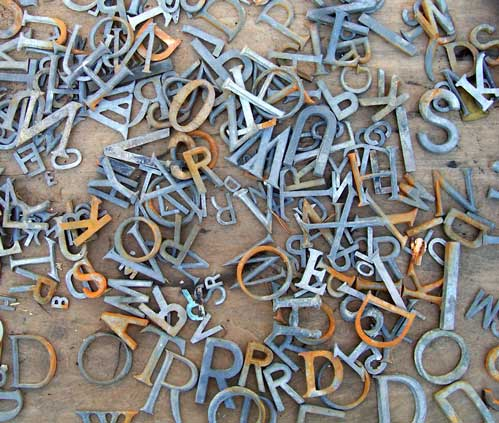 Decorative Metal Letters