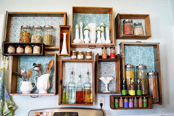 como organizar a cozinha - estante de gaveta - gaveta organizada - faça você mesma