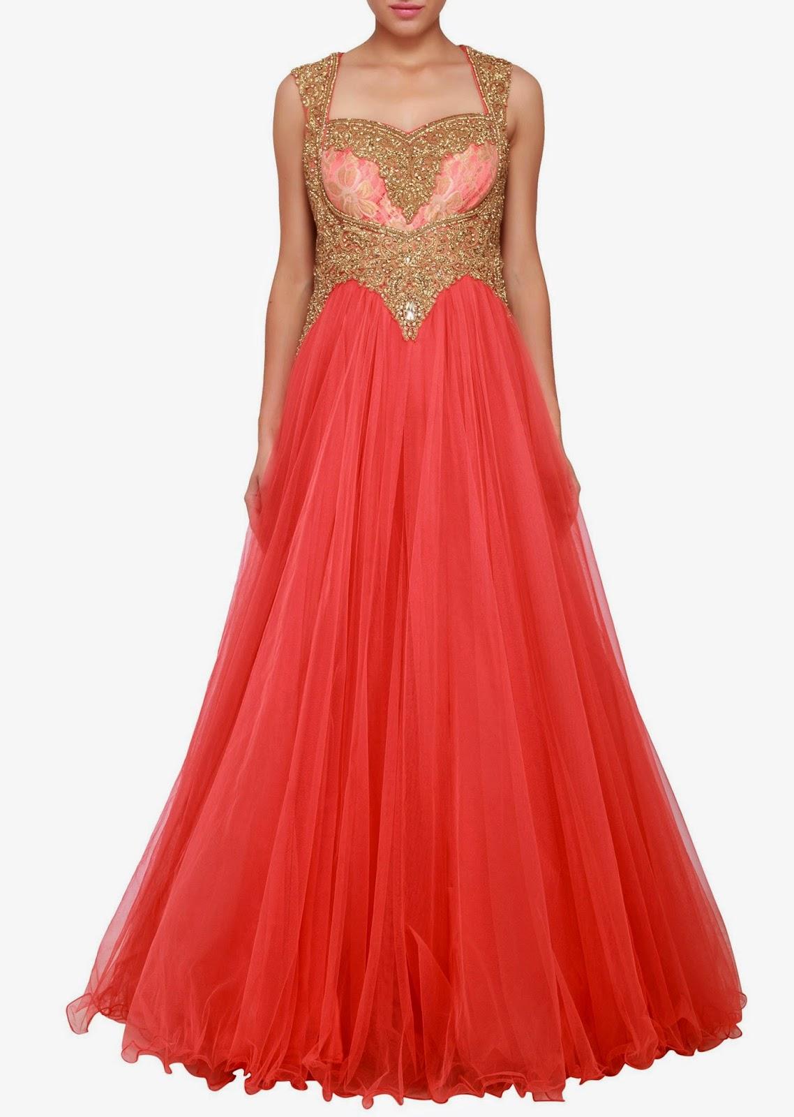 2014 Indowestern Bridal Gowns by Designer Kalki | Sketch Customs ...