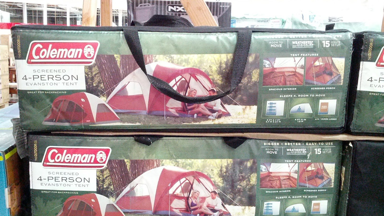 Go c&ing with the Coleman Screened 4 person Dome Evanston Tent & Coleman Screened 4-person Dome Evanston Tent | Costco Weekender