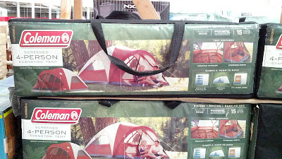 Go camping with the Coleman Screened 4 person Dome Evanston Tent