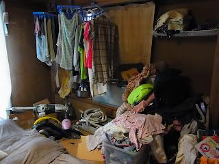 汚部屋画像 1階和室片づけビフォー&アフター ビフォー画像