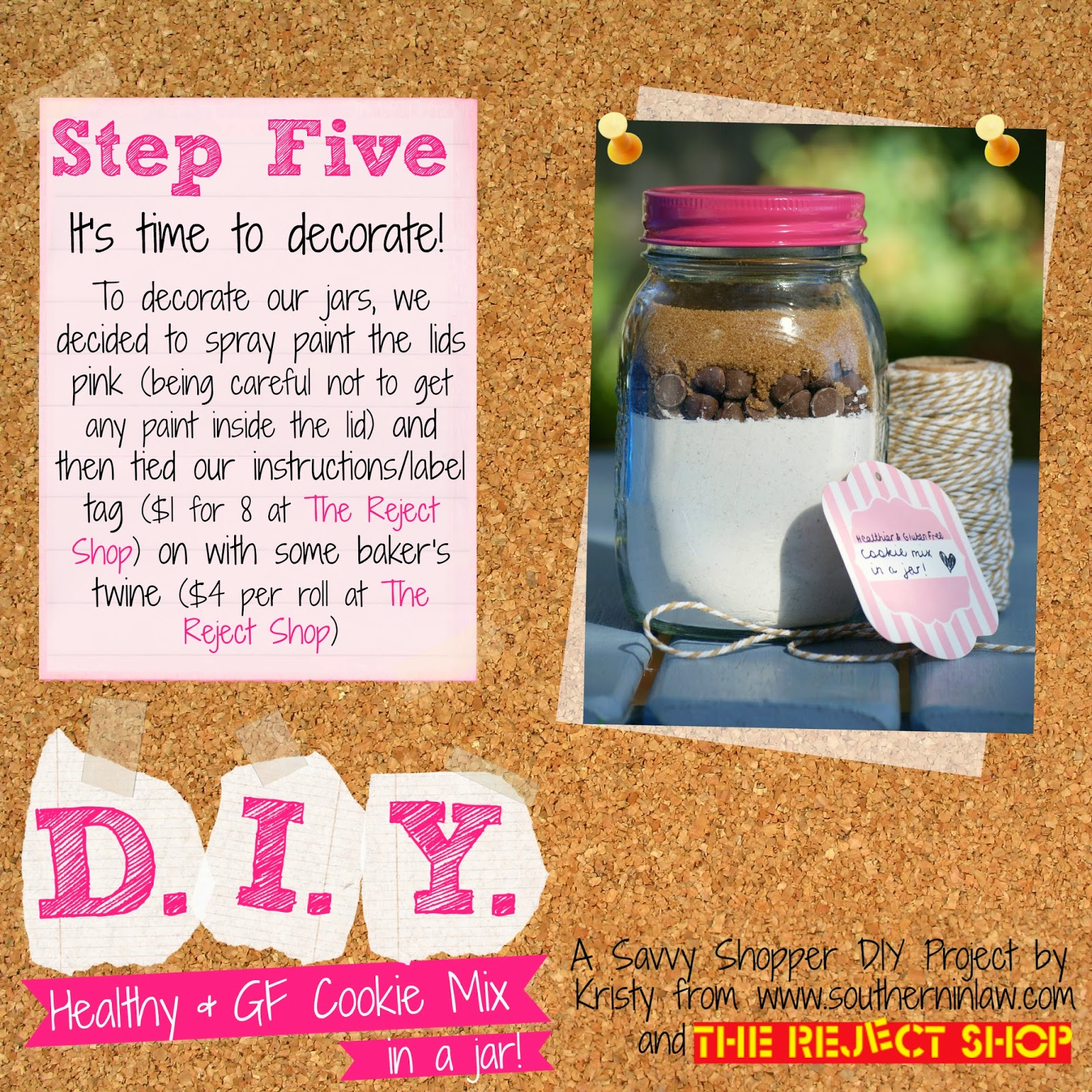 Gluten Free Cookie Mix in A Jar Recipe - Healthy Gift Ideas for Birthdays and Christmas - Gifts in a Jar on a Budget