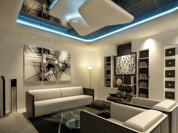 Modern Interior Living Room Ceiling Designs