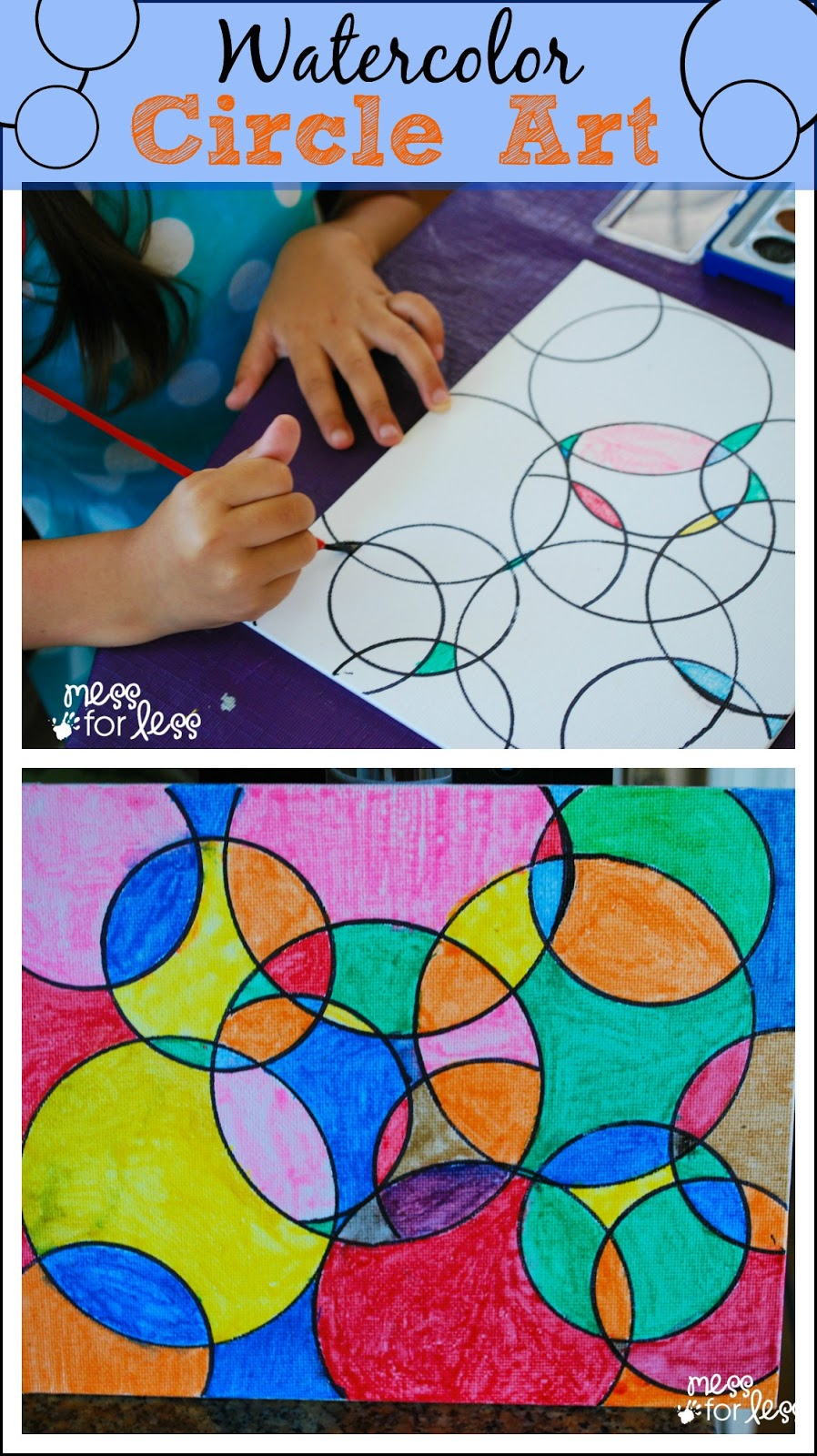 Kids Art Projects Watercolor Circle Art  - Art Projects Watercolor Circle Art