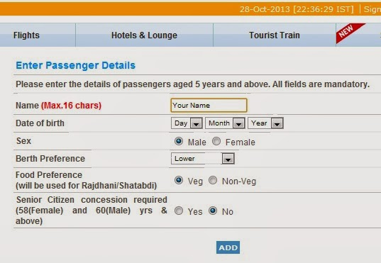 irctc tatkal ticket trick