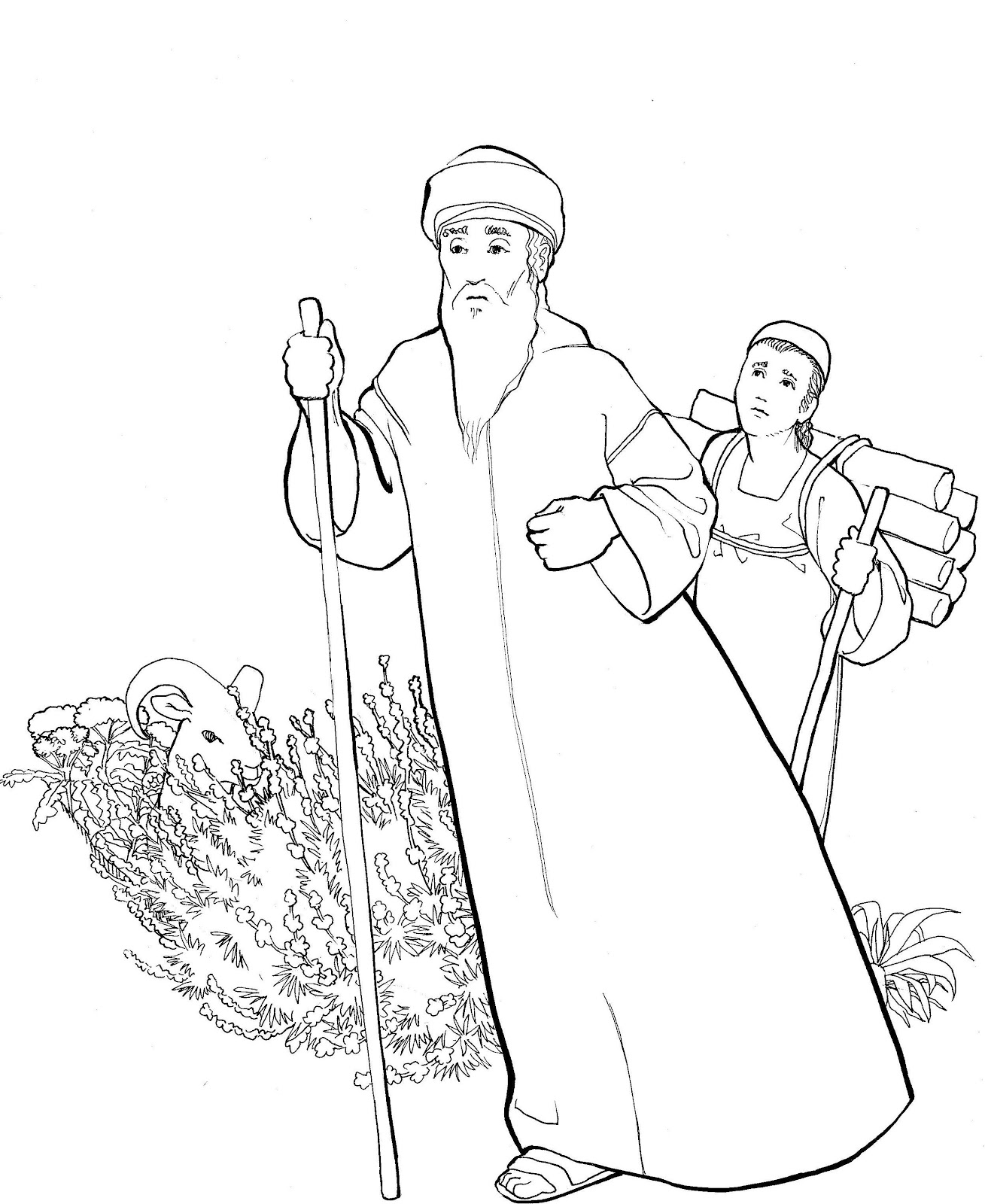 baby isaac bible coloring pages - photo#17