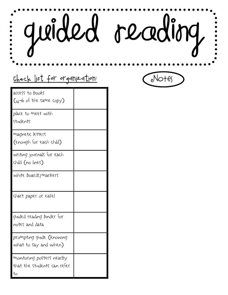 ... 22kB, Guided Reading Template Fountas And Pinnell Guided reading pack