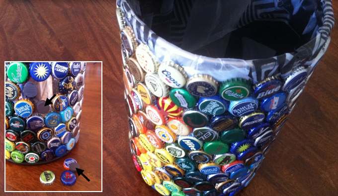 Beer Bottle Art Projects http://www.theartofdrinkingbeer.com/2012/10/the-art-of-drinking-beer-bottle-cap.html
