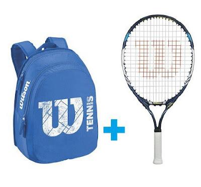 Set Wilson 23 modrý - raketa JUICE 23 a batoh Match JUNIOR modrý