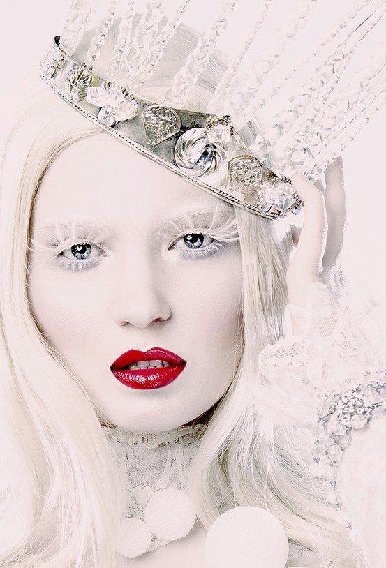 White Face Makeup Halloween The white queen! - White Halloween Makeup