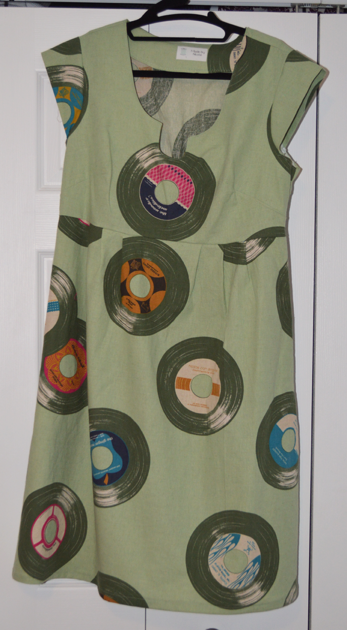 Records Washi Dress sewn by Cicely Ingleside