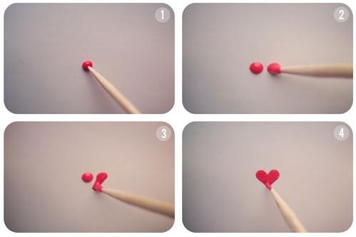 tutorial cuore nail art