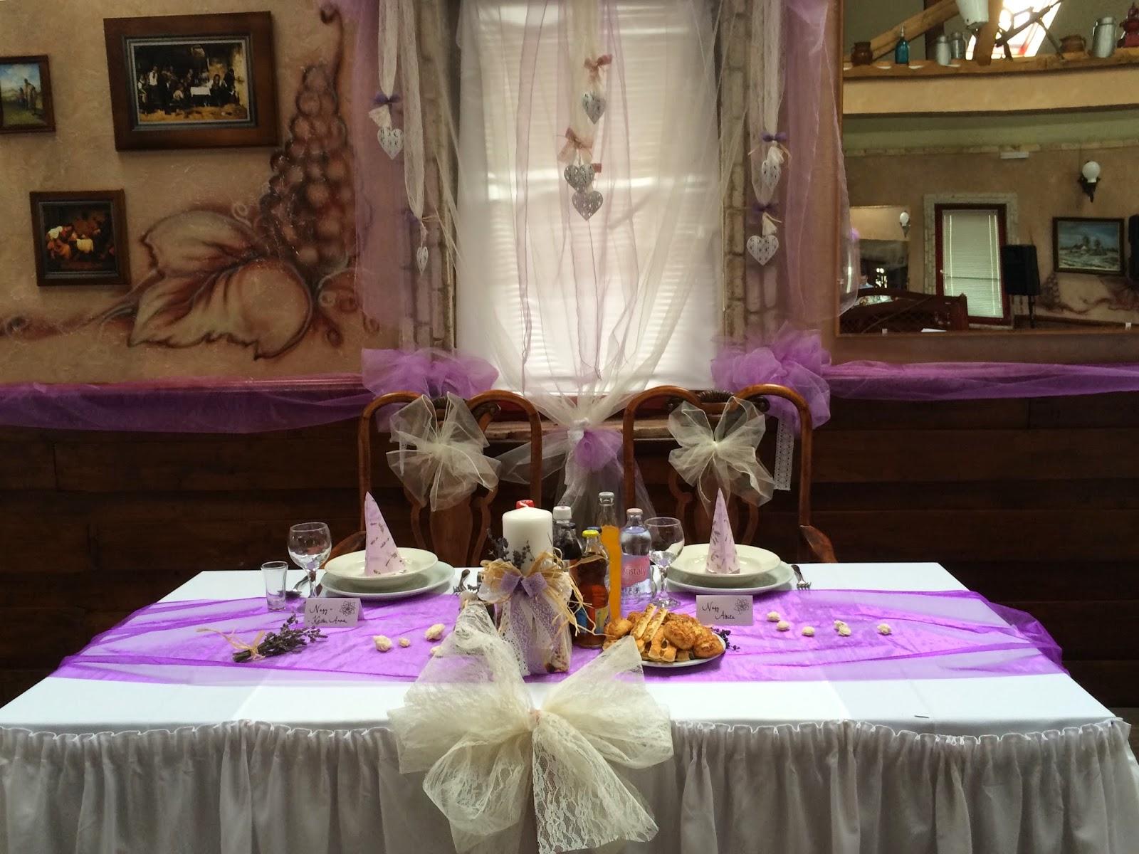 Asztal dekoráció