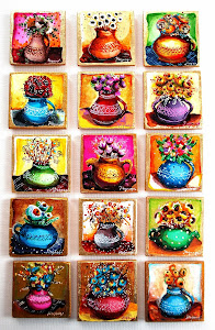Tablouri Miniaturale ( Magneti - Pictura pe lemn )