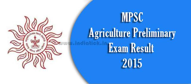MPSC Agriculture Prelim Result 2015 MAS Exam Merit List www.mpsc.gov.in